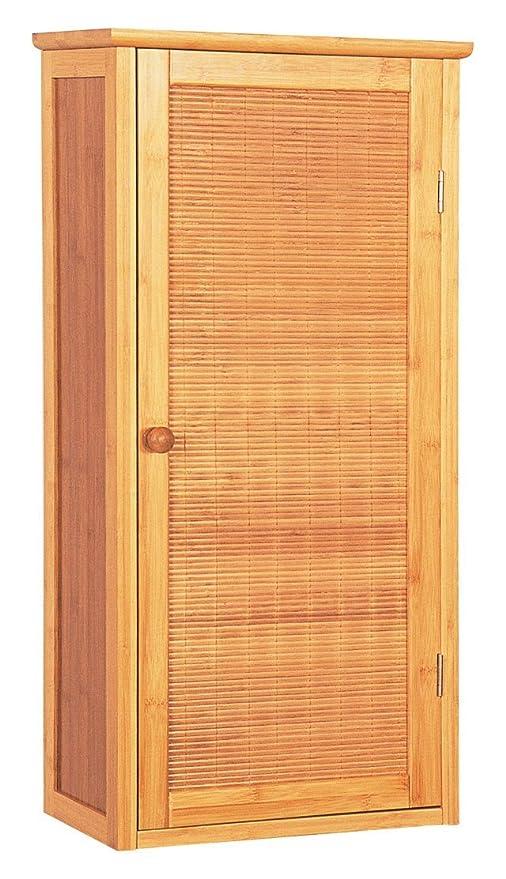 Armadio Bagno in bambù con una porta bagno mobili da bagno: Amazon ...