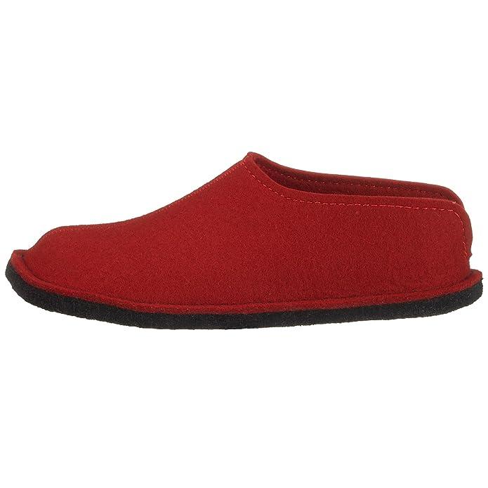 Haflinger Flair Smily 311013 - Zapatillas de casa de fieltro para mujer, color rojo, talla 41