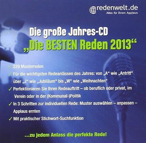 Die große Jahres-CD Die besten Reden 2013\