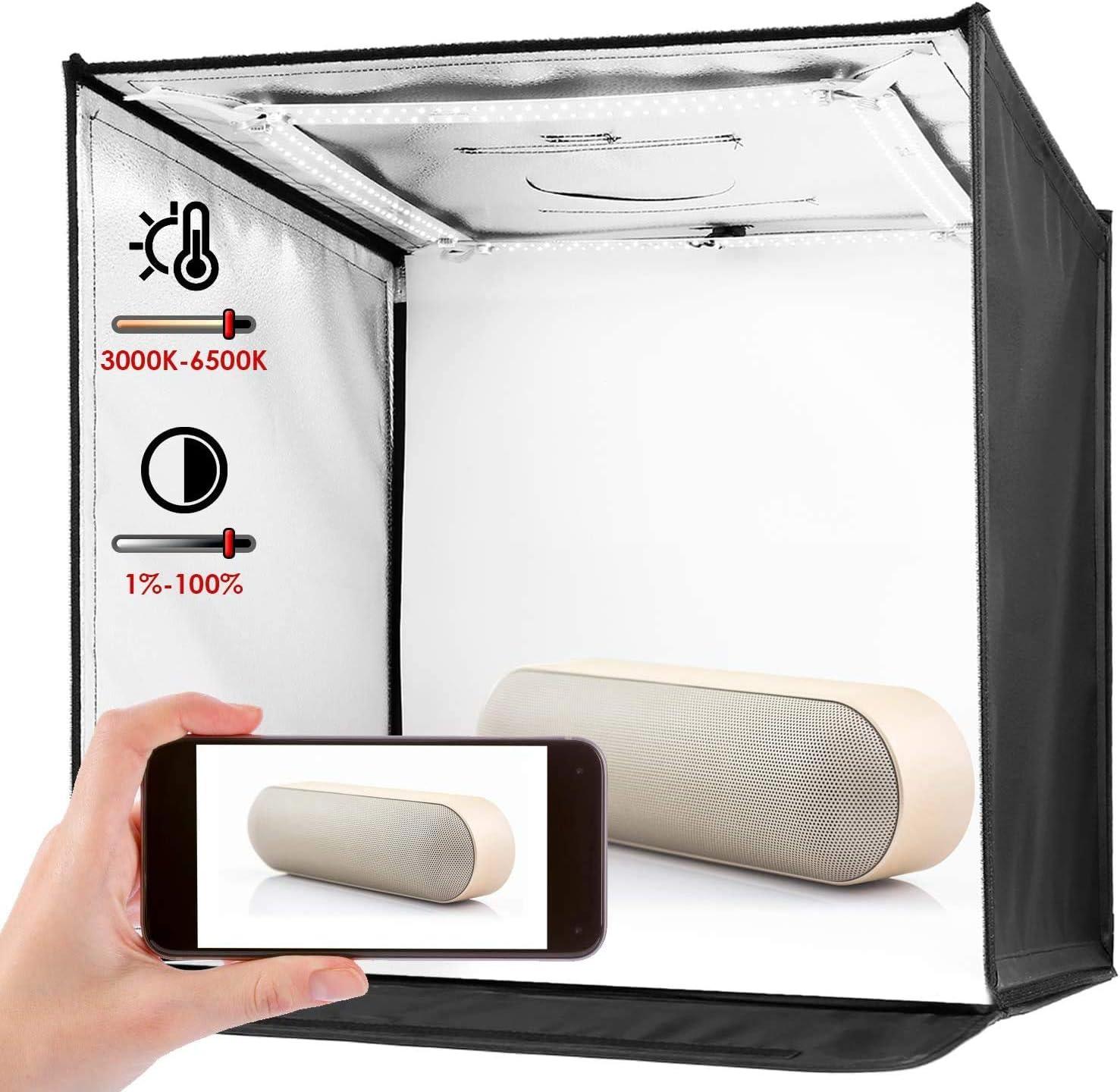 Amzdeal - Caja de luz para estudio fotográfico (60 x 60 cm), color negro y azul: Amazon.es: Hogar