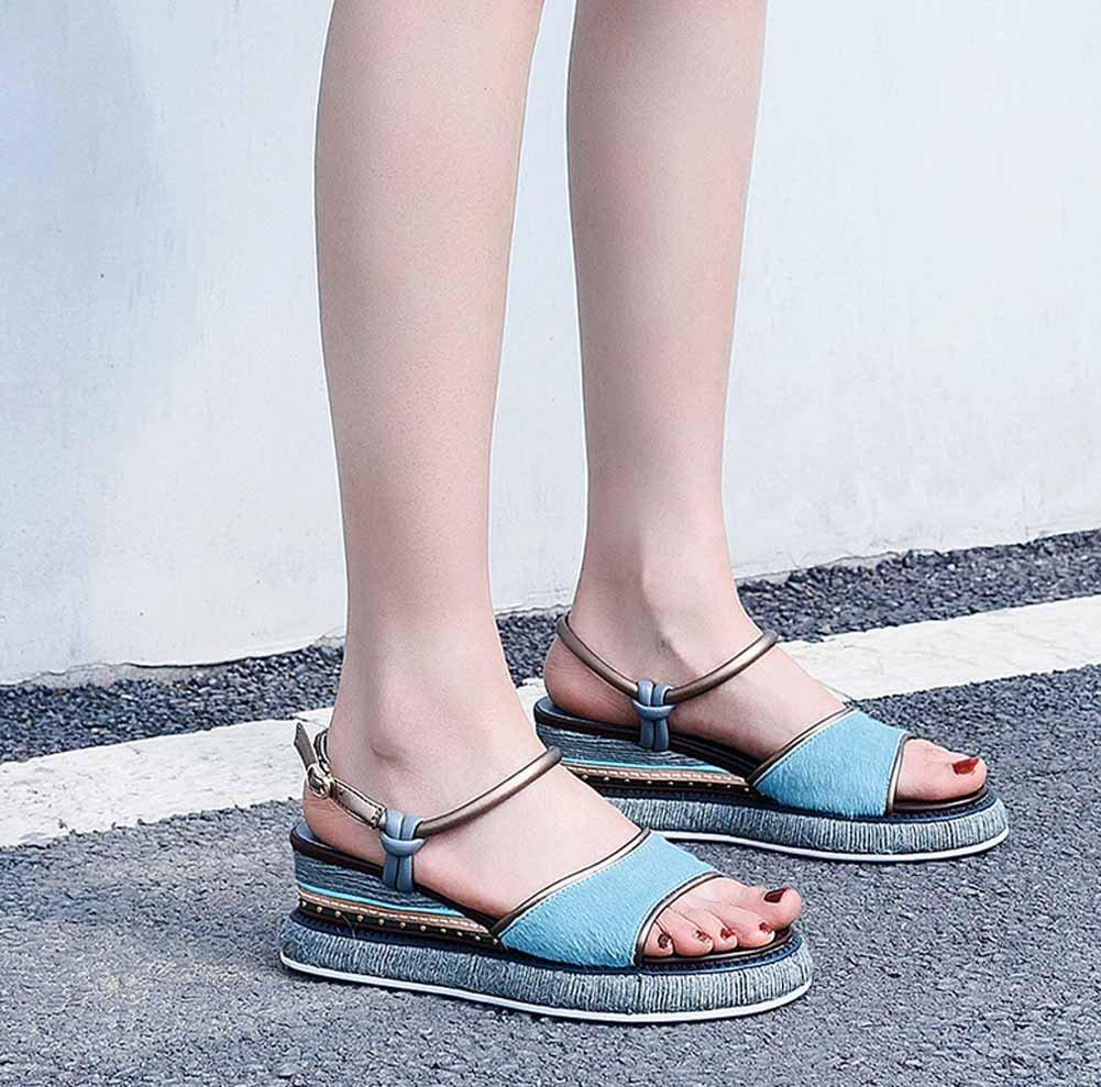 Damen Casual Open Toe Toe Toe Sandalen 2018 Sommer Neue Plattform Keil Flache Schuhe Komfortable Qualität Mode Sandalen 258565