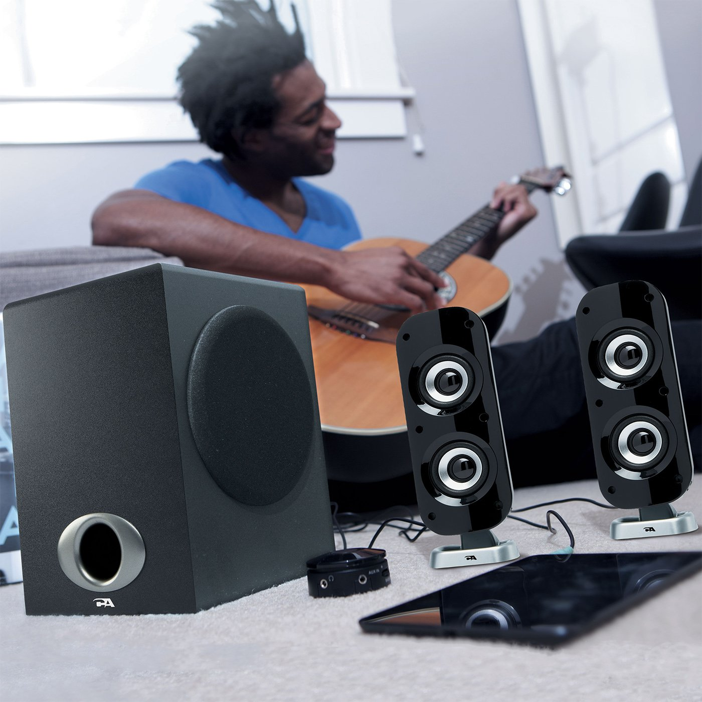 Cyber Acoustics High Power 2.1 Subwoofer Speaker System with 80W of Power – Perfect for Gaming, Movies, Music, and Multimedia Sound Solutions (CA-3810) by Cyber Acoustics (Image #7)