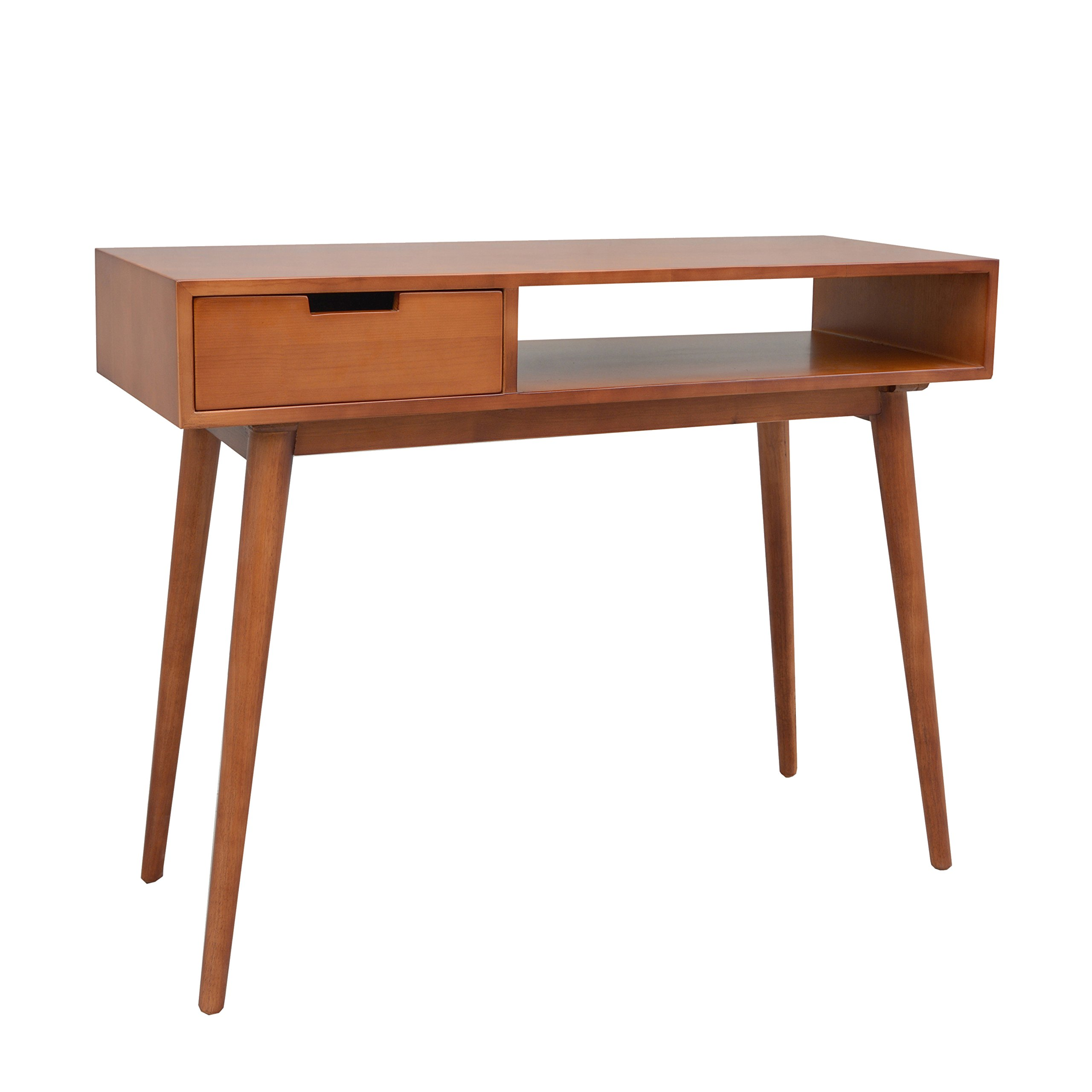 Porthos Home Aceline Mid-Century Console Table, Natural by Porthos Home