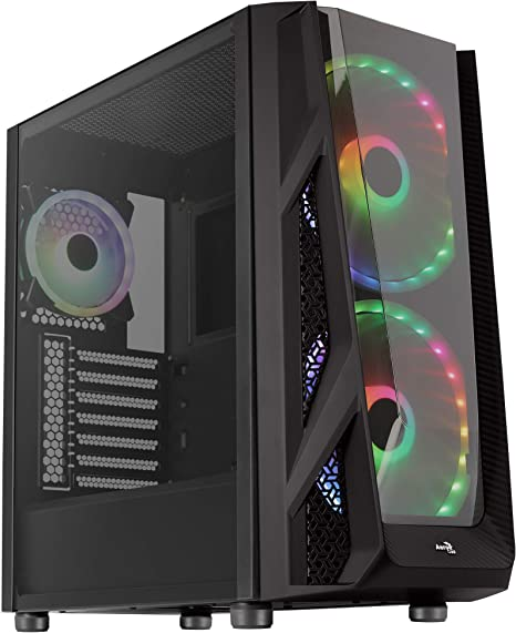 Aerocool NightHawk Duo, caja PC EATX,3 ventiladores, panel cristal ...