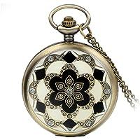 Avaner Reloj De Bolsillo Vintage Retro De Flores
