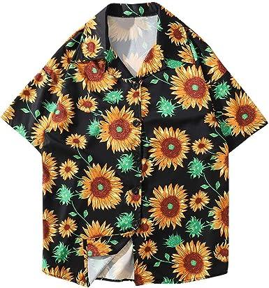 DFHYAR Mens Hipster Hip Hop Crew Neck Short Sleeve Tie dye Cotton T-Shirts