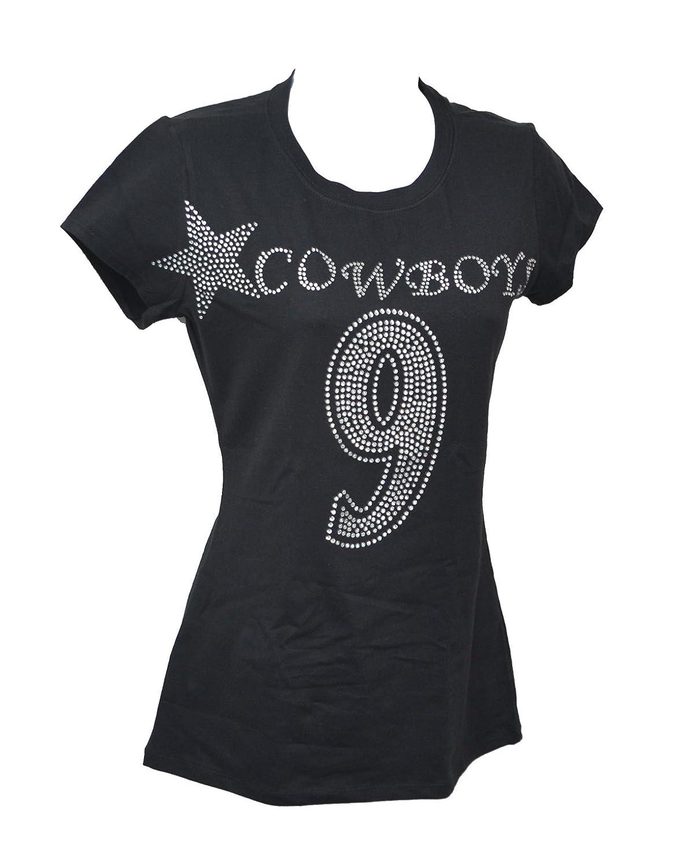 30c20e53d Amazon.com  Cowboys Crystal Rhinestone Womens T Shirts  Clothing