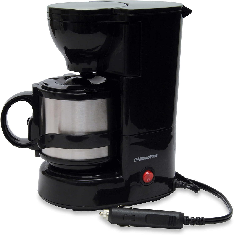 Roadpro – Cafetera eléctrica de 12 voltios con Boelter Brands Metal jarra: Amazon.es: Hogar