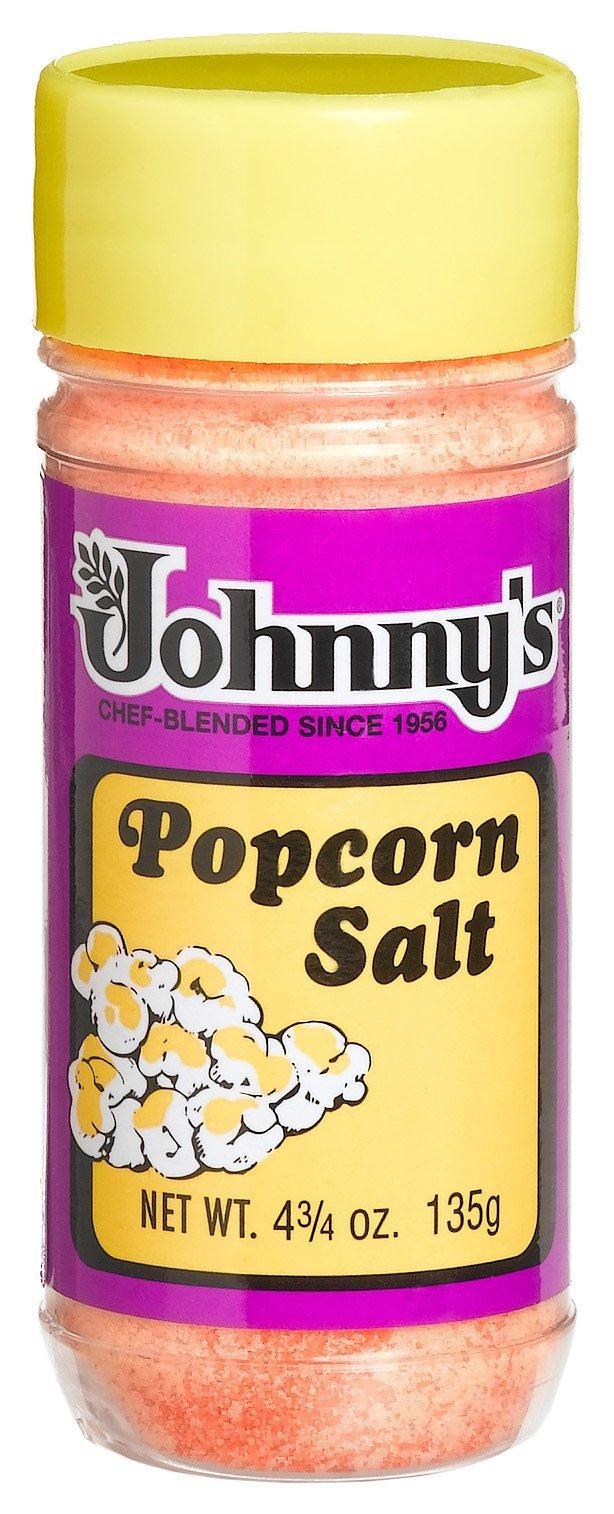 Johnny's Popcorn Salt, 4.75-Ounce Bottles (Pack of 6)