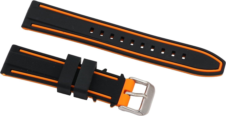 correas de silicona superiores para Relojes de goma pulseras de reloj inteligente en dos tonos