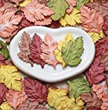 50 Leaves Daisy Mix 5 Color Mulberry Paper Leaf Scrapbook Craft Making Card DIY