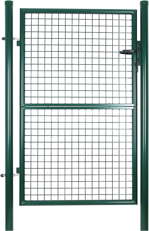 SONGMICS Puerta para Jardín de Hierro, 150 x 100 cm GGD200G