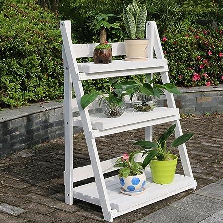 GFF Soporte para Flores/expositores para Flores botellero para Flores de Madera/Soporte para Plantas de Interior y Exterior/jardineras Multicapa/ Escalera para Escalera 3F/macetas de Suelo Espos: Amazon.es: Hogar