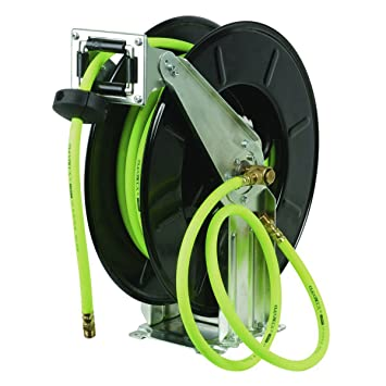 Flexzilla Retractable Open Face Dual Arm Air Hose Reel, 3/8 In. X