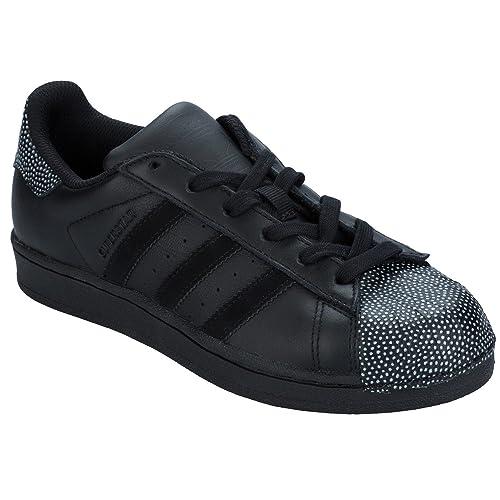 adidas Originals Zapatillas Zapatillas Zapatillas de Piel Para Hombre Negro Negro adidas 4ae243