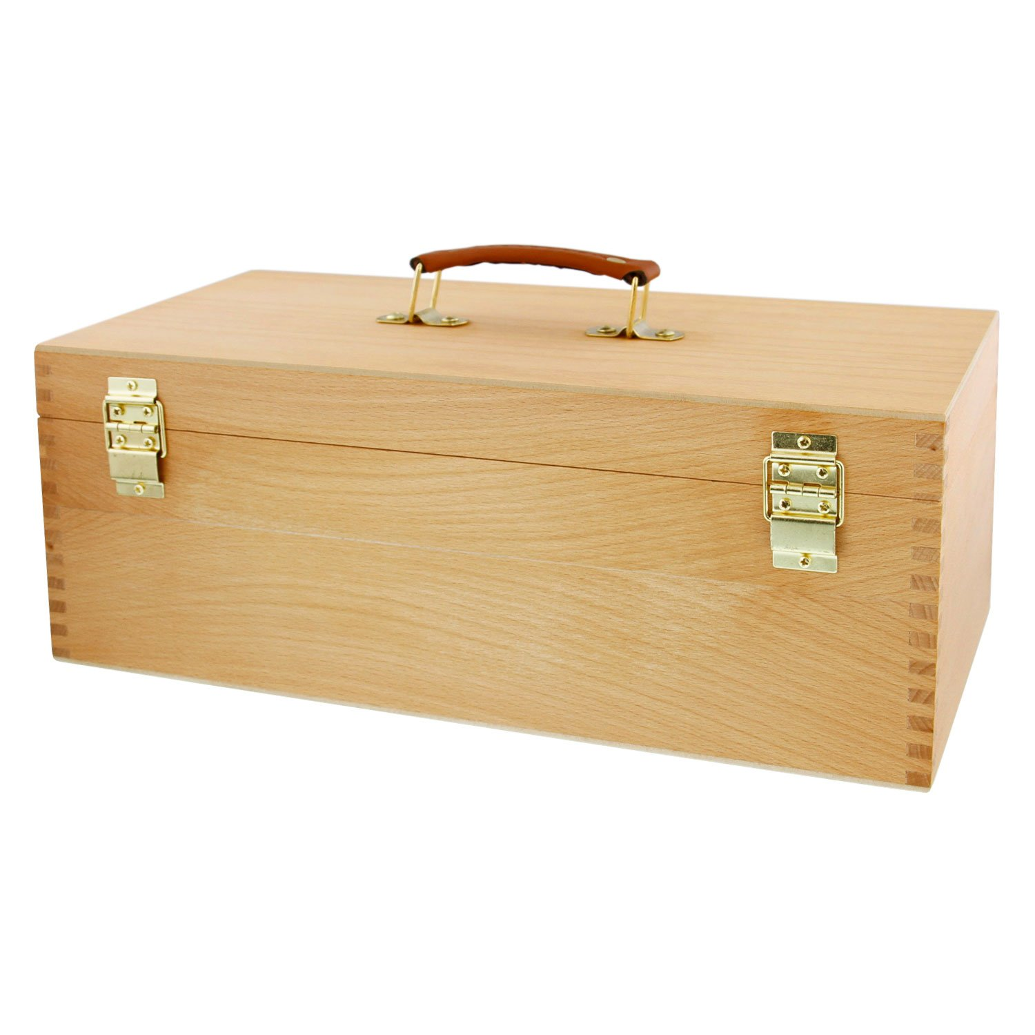 Large Tool Box-Tool Chest Marker Storage Box with Drawer Artist Wood Pastel s Pen