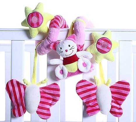 Happy Cherry - Juguetes Colgantes Espiral Colgantes Peluche Animales para Cuna Cochecito bebés niños niñas -