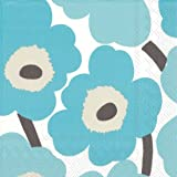 Ideal Home Range C552642 Marimekko20 Count Paper Cocktail Napkins, Unikko Turquoise