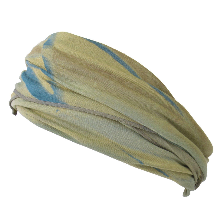 Casualbox mens Elastic headband Hand Dyed Japanese Bandana Purple 4589777960886