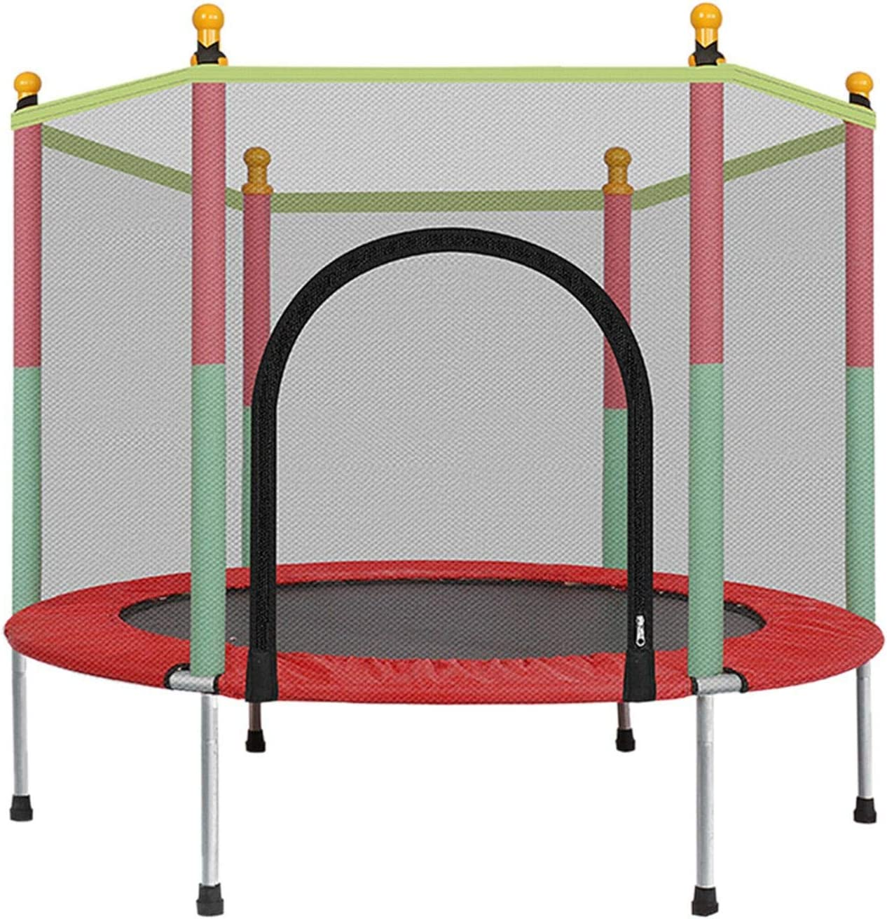 Trampoline for Kids Indoor Outdoor 5FT Kids Trampoline with Enclosure Net Jumping Mat and Spring Cover Padding
