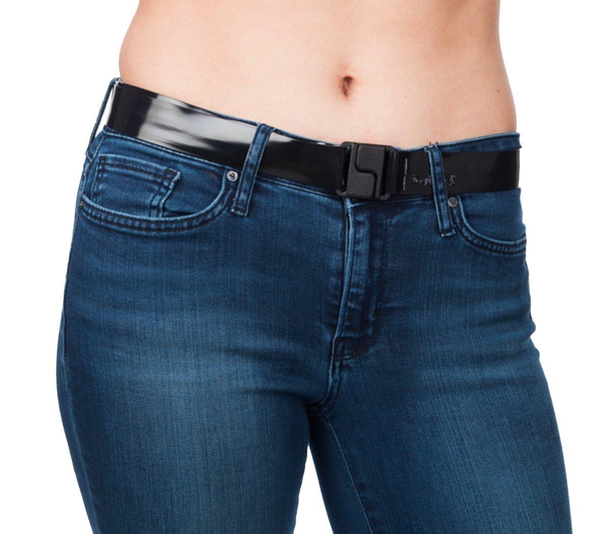 Invisibelt Skinny Lay Flat Women's Belt, Plus-Size Black