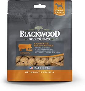 Blackwood Pet Oven Baked Dog Treats Made in USA [Natural Dog Treats for Healthy Snacks] Perfect for Dog Training Treats, 8 oz. Resealable Bag