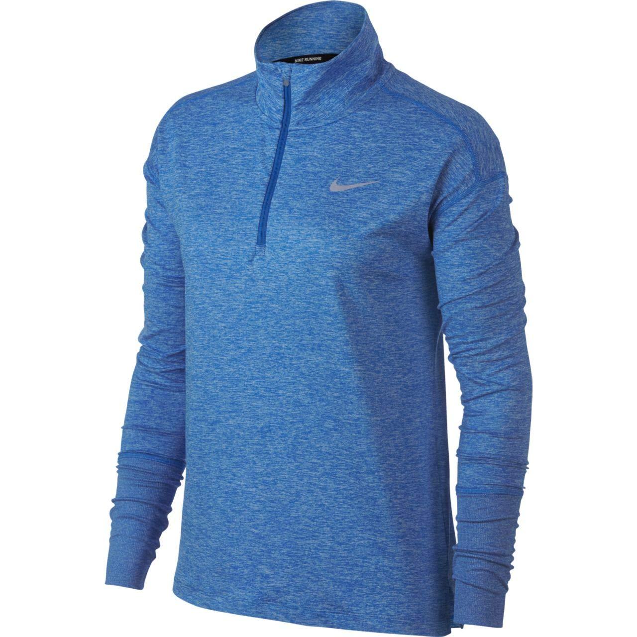 Nike Women's Element 1/2 Zip Top Signal Blue/Cobalt Tint/Heather Medium by Nike