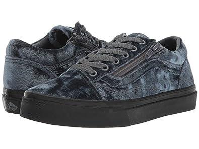 727bcb0e98 Vans Old Skool Zip (Velvet) Gray Black (11 M US Little Kid