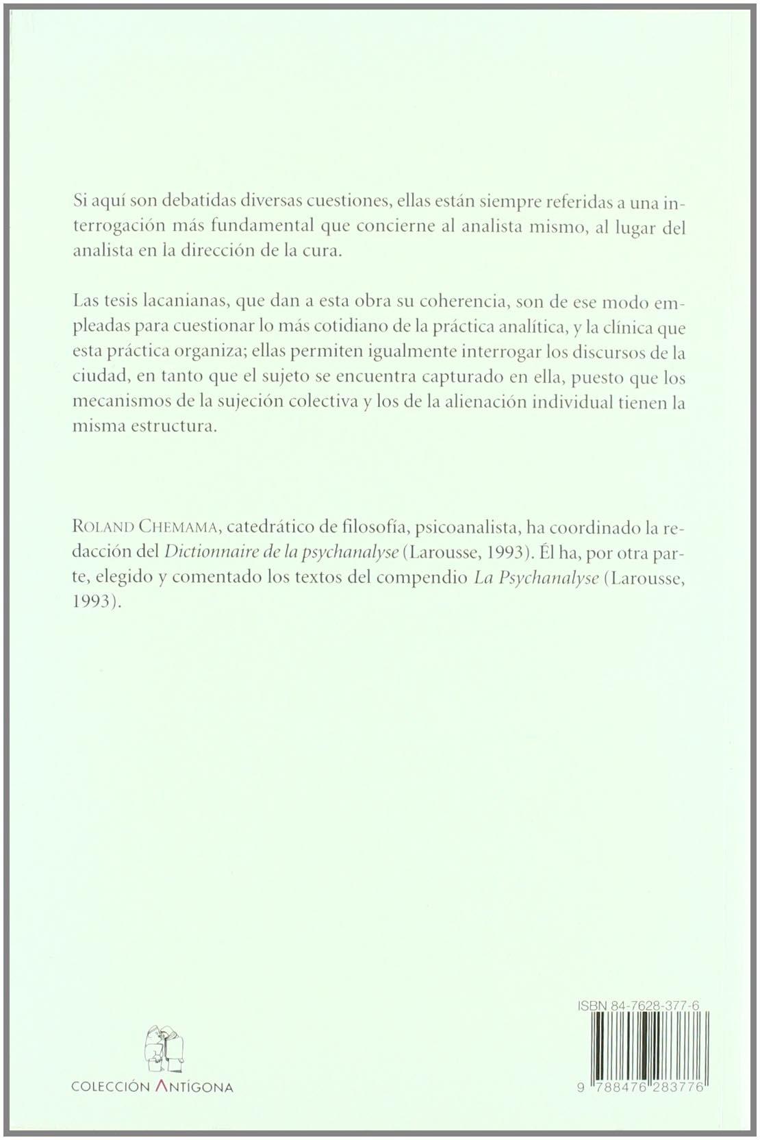 Elementos lacanianos para un psicoanalisis de lo cotidiano Antigona: Amazon.es: Roland Chemama: Libros