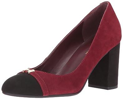 6b2851ed Amazon.com | Tommy Hilfiger Women's Elena Dress Pump Wine/Black 6 M ...