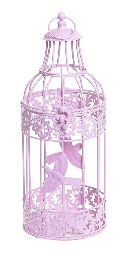 Rosa centro redonda jaula de pájaro mesa para boda decoración ...