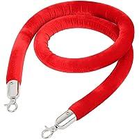 """Iglobalbuy 59""""Cuerda de Terciopelo Rojo(Cuerda Con Ganchos De"""