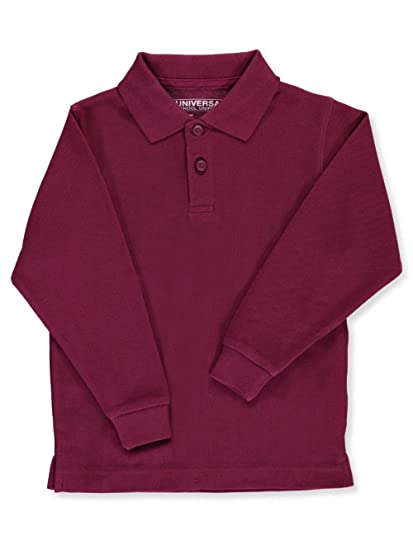 87a4153e Image Unavailable. Image not available for. Color: Unisex Boys Little Girls'  Toddler Long Sleeve Pique Polo Shirt ...