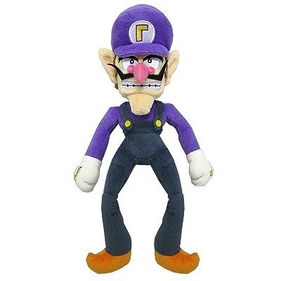 "Sanei Super Mario All Star Collection 12.5"" Waluigi Plush, Small: Toys & Games"
