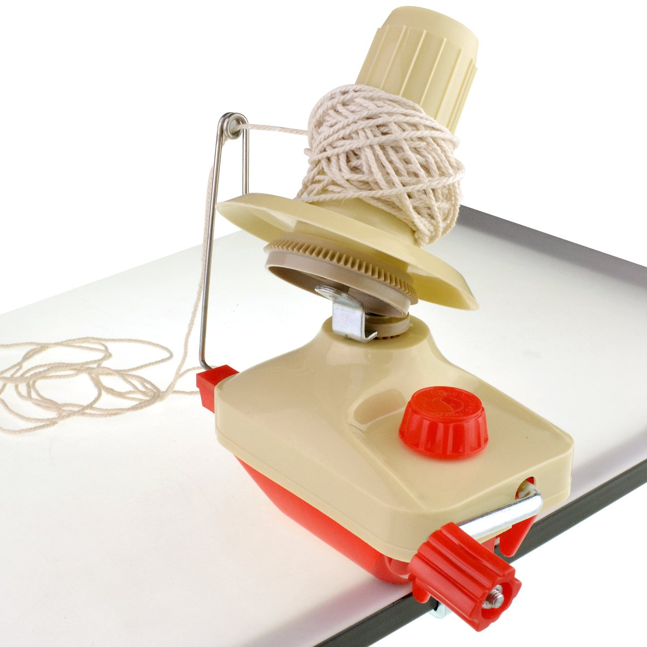 Monkeybrother Thread Skein Ball Tidy Machine Hand Operated Wool Winder Holder for Swift Yarn Fiber String Ball