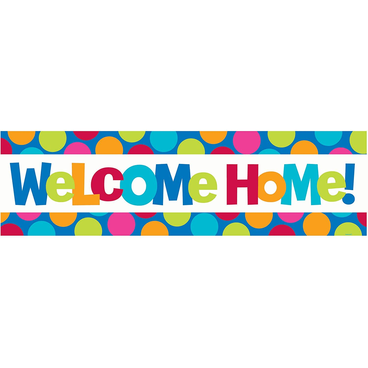 welcome home giant sign banner amazoncouk toys games