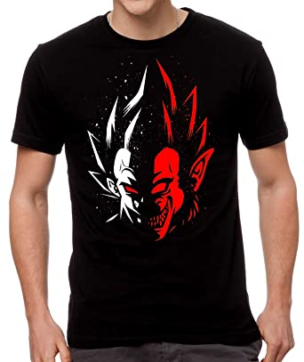 1d6239bd10e Dragon Ball Vegeta Two Face Goku T-Shirt  Amazon.co.uk  Clothing