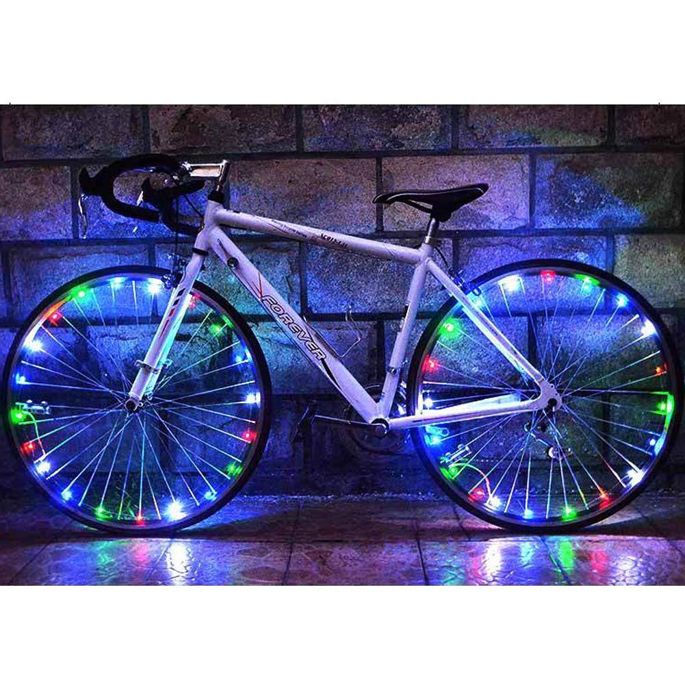 魅力的な価格 Aifusi 2タイヤLED自転車ホイールライト、バッテリー付き防水安全スポークライト、ライトアップホイール軽量2モード[マルチカラー] B07P6JQG4Z B07P6JQG4Z, 青海町:e87ec377 --- outdev.net
