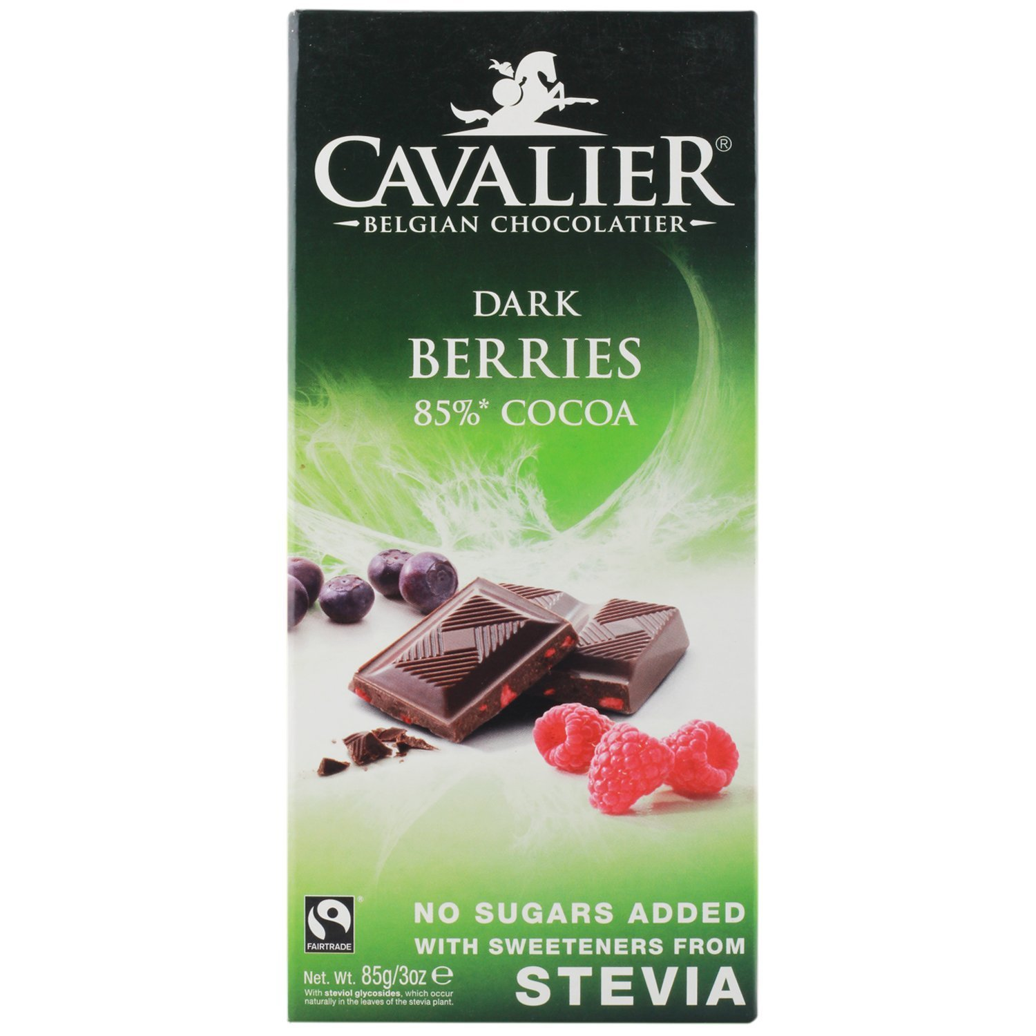 Cavalier - Belgian Dark Berries 85% Cocoa Chocolate Bar - 85g: Amazon.es: Alimentación y bebidas