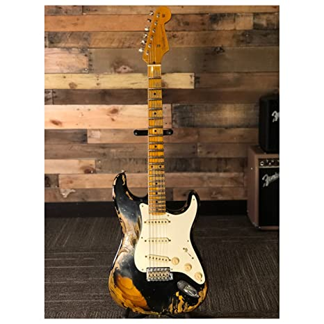 Fender Custom Shop guitarra eléctrica 2018 Namm Ltd 57 Strat hvrel BLK/2TS