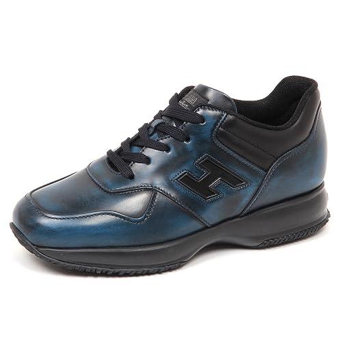 Hogan E4998 Sneaker Uomo Blu Persia Nero Interactive Scarpe H Rete Shoe Man   10   Amazon.it  Scarpe e borse f60b7e2469c