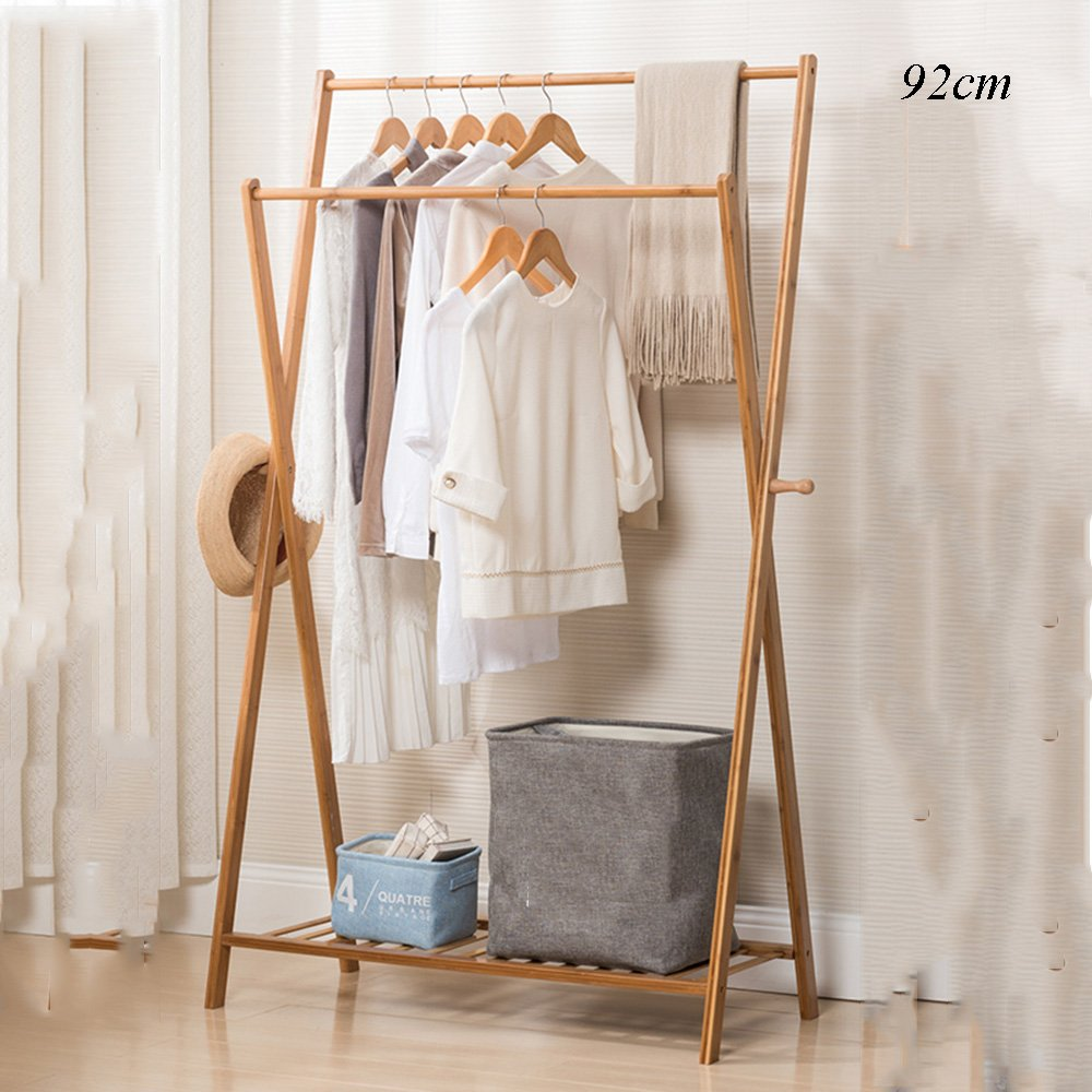Amazon.com: XIA Clothes Stand Made Of Bamboo, Size: 155 X ...