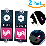 WildAuto Uber Lyft Sign Decor Accessories - Removable Ride share Decal - 2 Pcs - WildAuto (Type4)