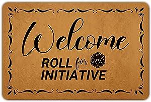 """Front Door Mat Entrance Floor Mat Welcome Roll for Initiative Funny Doormat Decorative Indoor Outdoor Doormat, 23.6"""" x 15.7"""""""