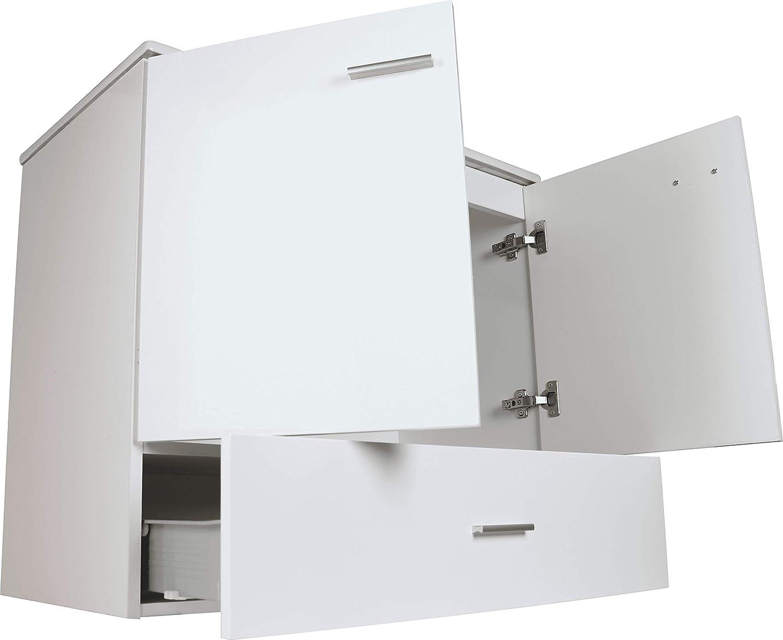 VAROBATH Mueble de baño de 2 Puertas y 1 cajón amortiguado, con Lavabo de Cerámica - Mueble MONTADO - Modelo RAKI (80 cms, Tea): Amazon.es: Hogar