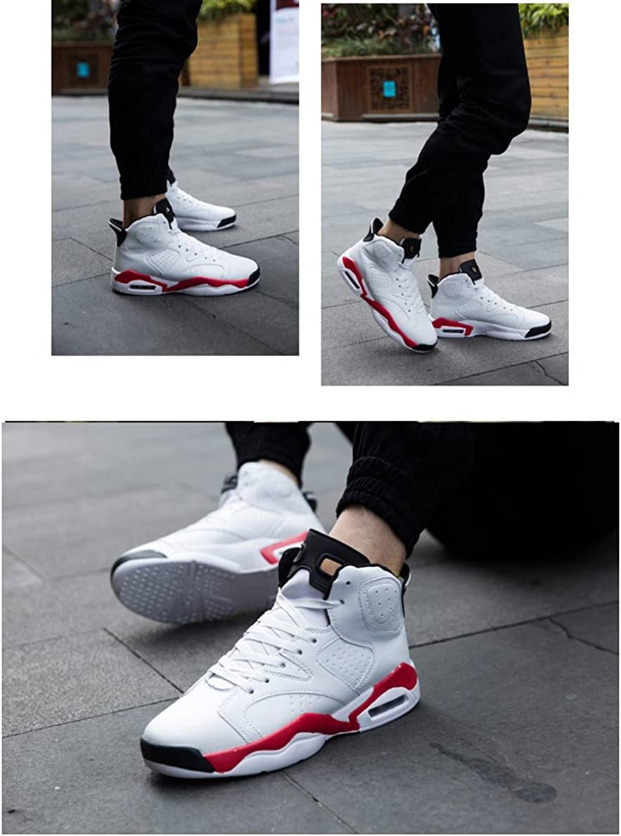 Scennek Mens Running Shoes Indoor and Outdoor Sports Fitness Fashion Sneakers Basketball Shoes Casual White Black
