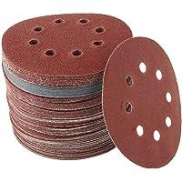 100Pcs Sanding Discs Pads, Hook and Loop Adhesive Sanding Discs Sandpaper 80/180/ 240/320/ 400/800/ 1000/1500/ 2000/3000…