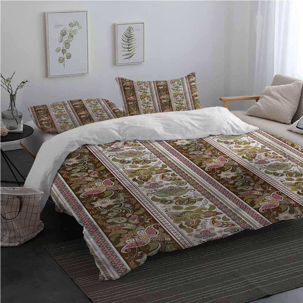AndyTours Arabesque Microfiber Duvet Cover Persian Floral Pattern Bedding Set for Men, Women, Boys and Girls King