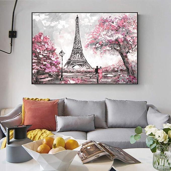 tzxdbh Street View of Paris Pinturas sobre Lienzo en la ...