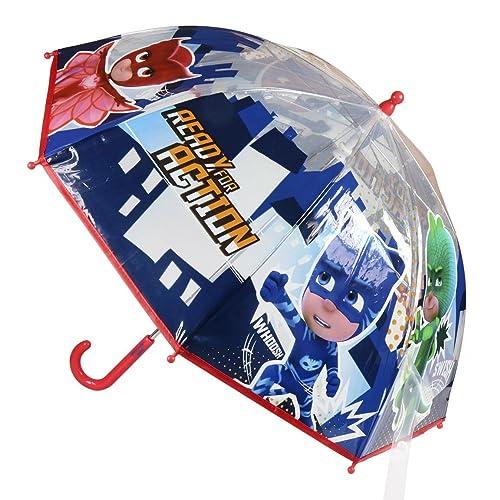 Paraguas transparente de PJ Masks.